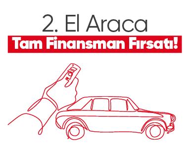 2. el araç tam finansman fırsatı